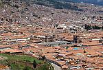 Cusco Plaza de Armas - Cathedral and La Compania de Jesus.  (Peru)