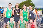 The elite runners competing in the 20th annual Kilgobnet 4mile race on Friday evening front row l-r: Tim O'Connor, Tom Sheahan, Humphrey Murphy An Riocht. Back row: Joe O'Connor An Riocht, Arthur Fitzgerald Farranfore Maine Valley, John Lenihan An Riocht and Noel Buckley DSD