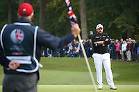 Shane Lowry (IRL) considers would could have been as he finishes T2 during the Final Round of the British Masters 2015 supported by SkySports played on the Marquess Course at Woburn Golf Club, Little Brickhill, Milton Keynes, England.  11/10/2015. Picture: Golffile | David Lloyd<br /> <br /> All photos usage must carry mandatory copyright credit (© Golffile | David Lloyd)