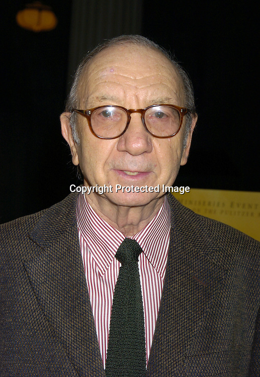 "Neil Simon..at a screening of HBO Films ""Empire Falls"" at the Metropolitan Museum of Art on May 9, 2005..Photo by Robin Platzer, Twin Images"