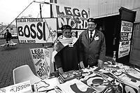 Lega Nord, Congresso Federale 1995, Palatrussardi Milano, contestazioni a Roberto Maroni, leghisti, popolo lega,
