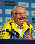 Peter Beattie (Chairman, Gold coast 2018 Commonwealth games corporation) smiles. Team Scotland press conference. Main press centre. Gold Coast 2018. Queensland. Australia. 04/04/2018. ~ MANDATORY CREDIT Garry Bowden/SIPPA - NO UNAUTHORISED USE - +44 7837 394578
