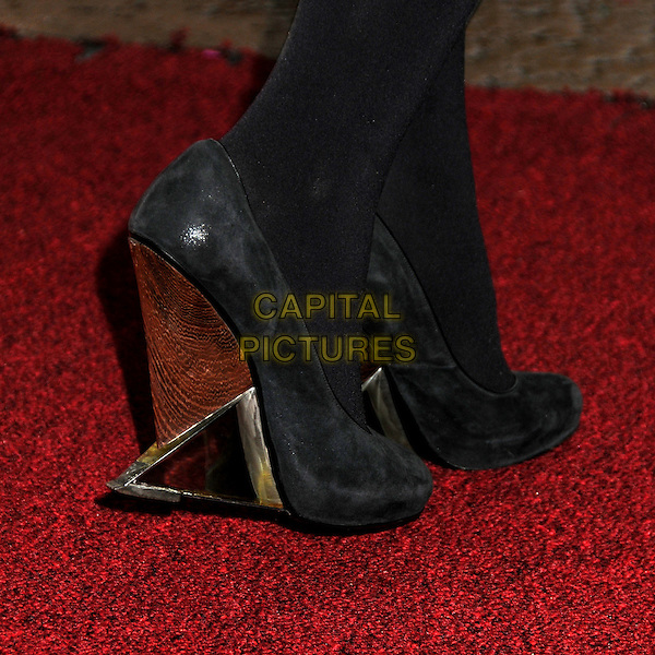 MARY ELIZABETH WINSTEAD's shoes .15th Annual Satellite Awards presented by the International Press Academy held at the InterContinental Hotel, Century City, California, USA, .19th December 2010..feet detail heels suede wedges wooden .CAP/ADM/BP.©Byron Purvis/AdMedia/Capital Pictures.