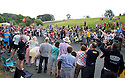 Grand Depart - Tour de France 2014<br /> Yorkshire England.<br /> Second stage passes through &quot;Blubberhouses Moor&quot;<br /> on the road from Harrogate<br /> Huge crowds wave through the leaders and peloton<br /> <br /> <br /> Pic by Gavin Rodgers/Pixel 8000 Ltd