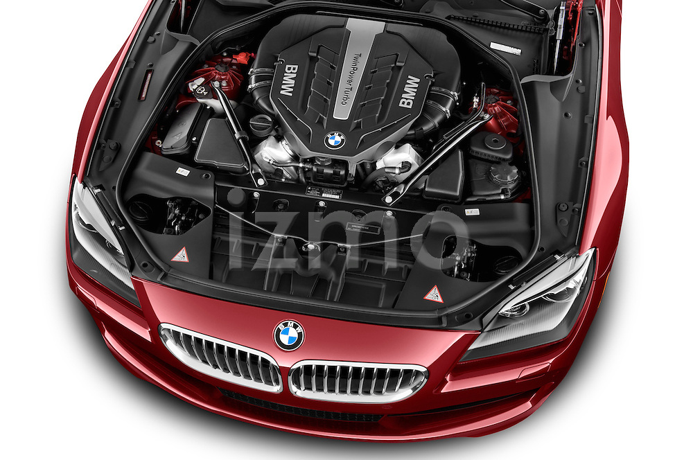 High angle engine detail of a  2014 BMW 6 Series Convertible 3A