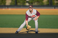 Virginia Tech Hokies first baseman Sean Keselica (25) on defense against the Wake Forest Demon Deacons in game two of a doubleheader at Wake Forest Baseball Park on March 7, 2015 in Winston-Salem, North Carolina.  (Brian Westerholt/Four Seam Images)