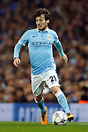 David Silva of Manchester City during the UEFA Champions League match at the Etihad Stadium. Photo credit should read: Philip Oldham/Sportimage