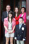 Daire O'Rourke with his family at the St Mary's Congress Avenue Communion in St.Mary's Church...(Photo credit should read Jenny Matthews www.newsfile.ie)....This Picture has been sent you under the conditions enclosed by:.Newsfile Ltd..The Studio,.Millmount Abbey,.Drogheda,.Co Meath..Ireland..Tel: +353(0)41-9871240.Fax: +353(0)41-9871260.GSM: +353(0)86-2500958.email: pictures@newsfile.ie.www.newsfile.ie.