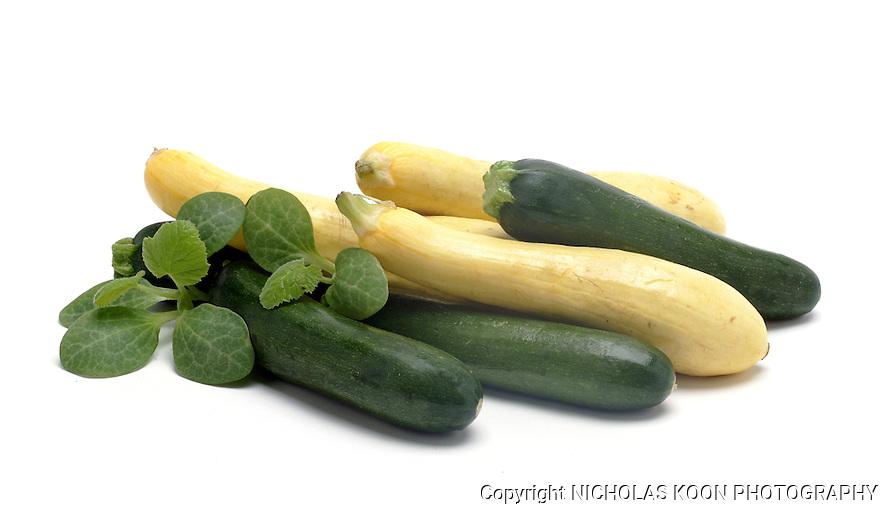 Zucchini still life.