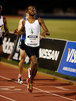 Brandon Shaw winning the 800m at the Adidas Track Classic in a time of 1:47.51sec. on Saturday, May 17, 2008. Photo by Errol Anderson, The Sporting Image.