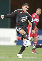 Jaime Moreno #99 of D.C. United during an MLS match against the Chicago Fire on April 17 2010, at RFK Stadium in Washington D.C. Fire won 2-0.