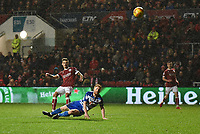 Jamie Patterson of Bristol City scores their first goal during the Sky Bet Championship match between Bristol City and Reading at Ashton Gate, Bristol, England on 26 December 2017. Photo by Paul Paxford.