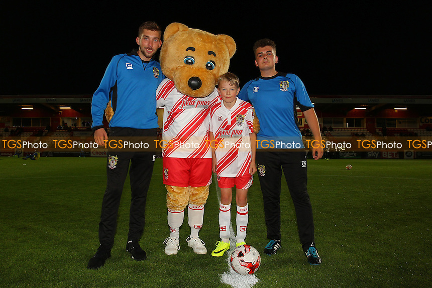 Boro Bear and the mascot during Stevenage vs Brighton & Hove Albion Under-23, Checkatrade Trophy Football at the Lamex Stadium on 4th October 2016