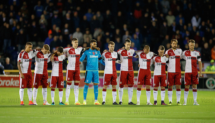 Rangers along with Inverness hold a minutes silence prior to kick-off in tribute to tragic Gers supporter Ryan Baird