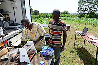 KENYA, County Bungoma, Mabanga, agricultural training institute, mobile soil testing lab / KENIA, landwirtschaftliches Traningszentrum, mobiles Bodentest und Analyse Labor
