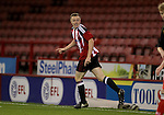 Sheffield United's Jordan Hallam celebrates his equaliser during the FA Youth Cup First Round match at Bramall Lane Stadium, Sheffield. Picture date: November 1st 2016. Pic Richard Sellers/Sportimage