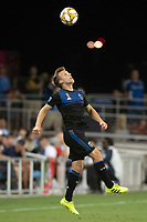 SAN JOSE,  - SEPTEMBER 1: Tommy Thompson #22 of the San Jose Earthquakes during a game between Orlando City SC and San Jose Earthquakes at Avaya Stadium on September 1, 2019 in San Jose, .