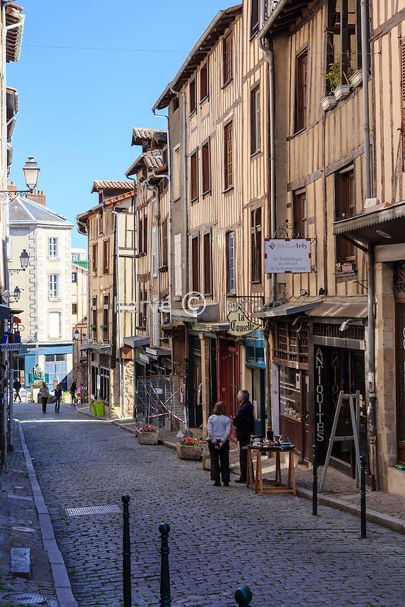 France, Haute-Vienne (87), Limoges, rue de la Boucherie dans le quartier du Château // France, Haute Vienne, Limoges, Boucherie street in Chateau neighborhood
