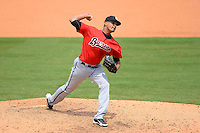 Birmingham Barons pitcher Salvador Sanchez #40 during a game against the Chattanooga Lookouts on April 17, 2013 at AT&T Field in Chattanooga, Tennessee.  Chattanooga defeated Birmingham 5-4.  (Mike Janes/Four Seam Images)