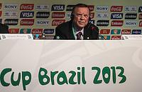 SAO PAULO, SP, 30 DE NOVEMBRO 2012 - COLETIVA FIFA - Jose Maria Marin presidente da CBF/COL  durante coletiva com imprensa sexta-feira no Parque Anhembi regiao norte da capital paulista. FOTO: VANESSA CARVALHO - BRAZIL PHOTO PRESS.