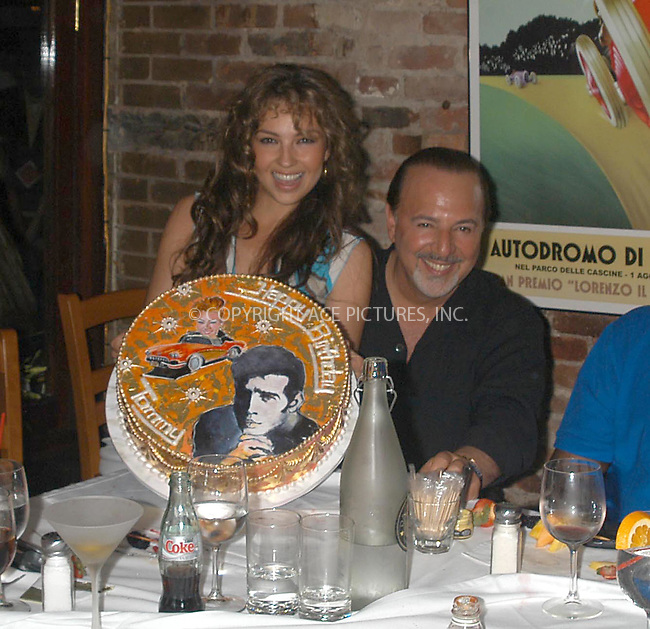 record mogul tommy mottola celebrates his 56th birthday with wife pop singer thalia and friends at da silvano italian restaurant.  bocklet.