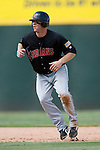 Indianapolis Indians right fielder Adam Boeve takes his lead off of second base in game action versus the Charlotte Knights at Knights Stadium in Fort Mill, SC, Sunday, August 13, 2006.
