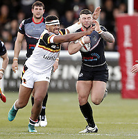 Andy Ackers in action for London during the Kingstone Press Championship game between London Broncos and Bradford Bulls at Ealing Trailfinders, Ealing, on Sun March 5, 2017