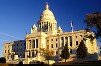 Providence, State House, State Capitol, Rhode Island, RI, The Rhode Island State House in the Capital City of Providence in the autumn.