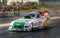 May 29, 2009; Topeka, KS, USA: NHRA funny car driver Ashley Force Hood during qualifying for the Summer Nationals at Heartland Park Topeka. Mandatory Credit: Mark J. Rebilas-