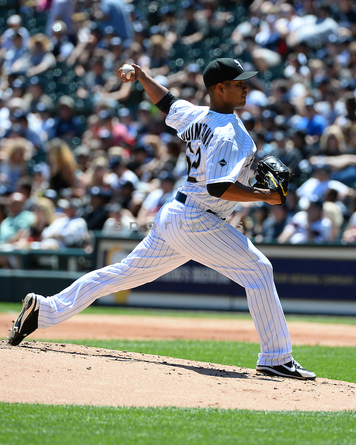 Chicago White Sox Jose Quintana (62) during a game against the Atlanta Braves on July 9, 2016 at US Cellular Field in Chicago, IL. The White Sox beat the Braves 5-4.