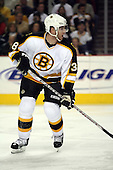 February 17th 2007:  Bobby Allen (38) of the Boston Bruins looks for a pass vs. the Buffalo Sabres at HSBC Arena in Buffalo, NY.  The Bruins defeated the Sabres 4-3 in a shootout.