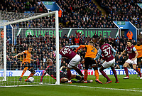 Albert Adomah of Aston Villa' scores Aston Villa's goal<br /> <br /> Photographer Leila Coker/CameraSport<br /> <br /> The EFL Sky Bet Championship - Aston Villa v Wolverhampton Wanderers - Saturday 10th March 2018 - Villa Park - Birmingham<br /> <br /> World Copyright &copy; 2018 CameraSport. All rights reserved. 43 Linden Ave. Countesthorpe. Leicester. England. LE8 5PG - Tel: +44 (0) 116 277 4147 - admin@camerasport.com - www.camerasport.com
