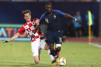 Ivan Sunjic of Croatia and Jonathan Ikone of France compete for the ball<br /> Serravalle 21-06-2019 Stadio San Marino Stadium <br /> Football UEFA Under 21 Championship Italy 2019<br /> Group Stage - Final Tournament Group C<br /> France - Croatia<br /> Photo Cesare Purini / Insidefoto