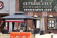 ARLINGTON, VA. - MAY 22: - Crystal City Gentleman's Club added its own patio with the hopes of opening next week to serve food upon re-opening during the coronavirus pandemic in Arlington, Virginia on May 22, 2020 . Credit: mpi34/MediaPunch
