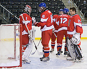Filip Novotny (Czech Republic - 1), Jakub Culek  (Czech Republic - 18), Petr Mrazek (Czech Republic - 29) - Sweden defeated the Czech Republic 4-2 at the Urban Plains Center in Fargo, North Dakota, on Saturday, April 18, 2009, in their final match of the 2009 World Under 18 Championship.