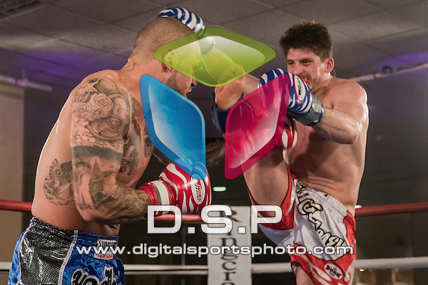 Tommy Harris VS Alex Heyes. Photo by: Stephen Smith<br /> <br /> Total Collision 1 - Saturday 28th February 2015. The Carrington Hotel, Bournemouth, Dorset, United Kingdom.