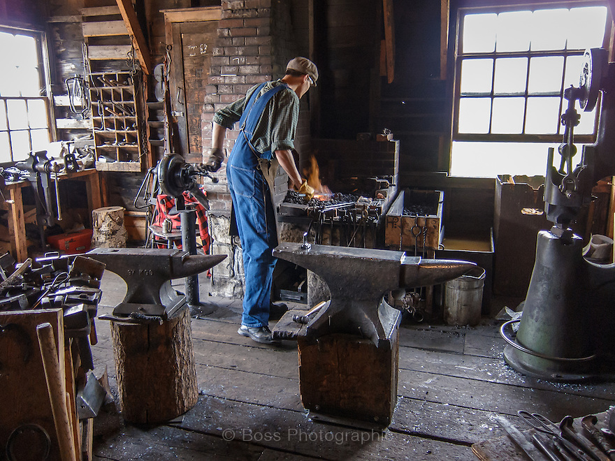 Blacksmith, Heritage Park Historical Village, Calgary
