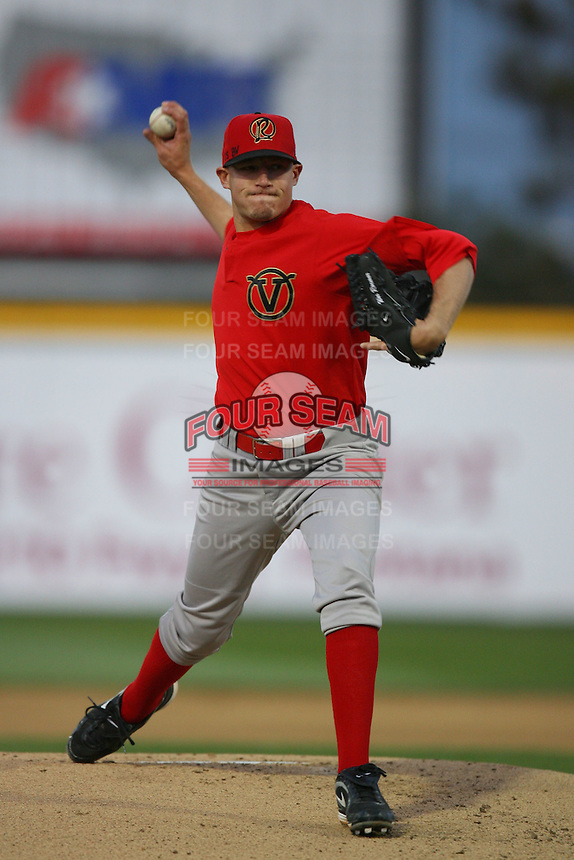 April 15 2009: Wes Roemer of the Visalia Rawhide pitches against the Rancho Cucamonga Quakes at The Epicenter in Rancho Cucamonga,CA.  Photo by Larry Goren/Four Seam Images