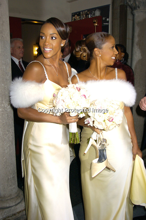 Viveca A Fox and Holly Robinson Peete..at the Wedding of Star Jones and Al Reynolds on November 13, 2004 at St Barts Church in New York City. ..Photo by Robin Platzer, Twin Images