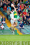 Eoin Brosnan takes the high ball over Seanie Buckley in the Muster Senior Semi final held in The Gaelic Grounds last Saturday evening.