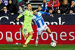 Oscar Rodriguez of CD Leganes and Nemanja Maksimovic of Getafe FC during La Liga match between CD Leganes and Getafe CF at Butarque Stadium in Leganes, Spain. January 17, 2020. (ALTERPHOTOS/A. Perez Meca)