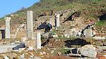 Ancient ruins at Ephesus in Turkey near Kusadasi.