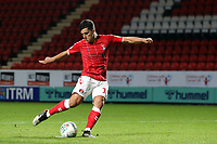 Albie Morgan of Charlton Athletic misses the fourth penalty for Charlton in the Shoot-out during Charlton Athletic vs Forest Green Rovers, Caraboa Cup Football at The Valley on 13th August 2019