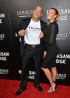 LOS ANGELES, CA. October 24, 2016: Tito Ortiz &amp; Amber Nichole Miller at the Los Angeles premiere of &quot;Hacksaw Ridge&quot; at The Academy's Samuel Goldwyn Theatre, Beverly Hills.<br /> Picture: Paul Smith/Featureflash/SilverHub 0208 004 5359/ 07711 972644 Editors@silverhubmedia.com