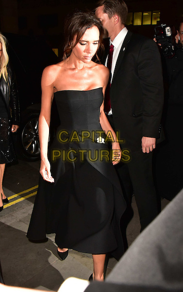 Victoria Beckham  arrives for the premiere of the Burberry festive film at Burberry on November 3, 2015 in London, England.<br /> CAP/JOR<br /> &copy;JOR/Capital Pictures