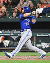 Toronto Blue Jays Russell Martin (55) during a game against the Baltimore Orioles on April 5, 2017 at Oriole Park at Camden Yards in Baltimore, MD. The Orioles beat the Blue Jays 3-1.