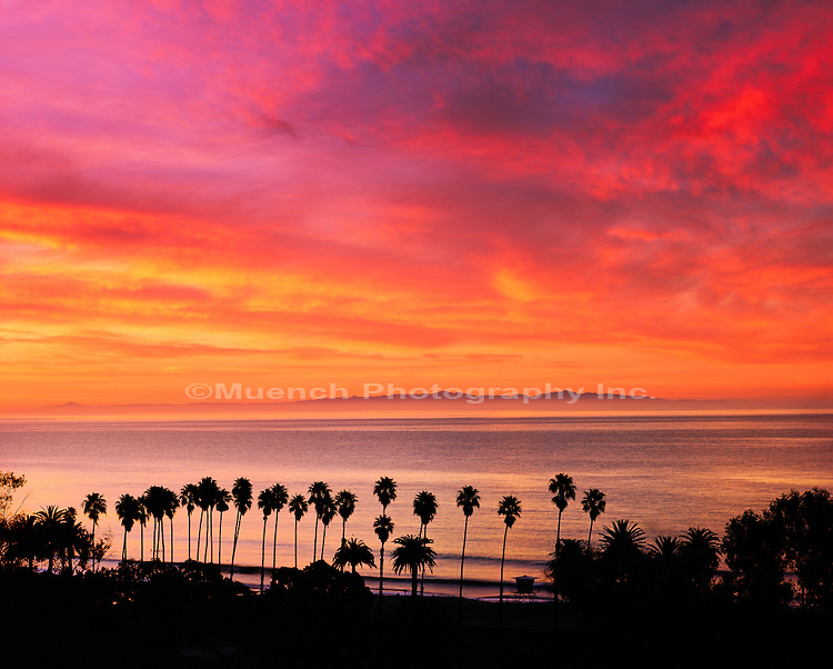 Refugio State Beach Sunrise   CALIFORNIA