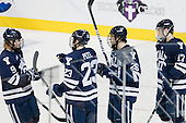 Brian O'Neill (Yale - 9), Kevin Peel (Yale - 23), Mark Arcobello (Yale - 26),Andrew Miller (Yale - 17) - The Boston College Eagles defeated the Yale University Bulldogs 9-7 in the Northeast Regional final on Sunday, March 28, 2010, at the DCU Center in Worcester, Massachusetts.