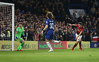 Manchester United's Ander Herrera scores his side's first goal  <br /> <br /> Photographer Rob Newell/CameraSport<br /> <br /> Emirates FA Cup Fifth Round - Chelsea v Manchester United - Monday 18th February - Stamford Bridge - London<br />  <br /> World Copyright © 2019 CameraSport. All rights reserved. 43 Linden Ave. Countesthorpe. Leicester. England. LE8 5PG - Tel: +44 (0) 116 277 4147 - admin@camerasport.com - www.camerasport.com