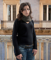 Italy / Sicilia / Ragusa / Vittoria / 18.3.2011 / Alessandra Melita, 25 years old. She studies psychology at the University of Enna, and works with refugees' children. <br /> <br /> &copy; Giulia Marchi